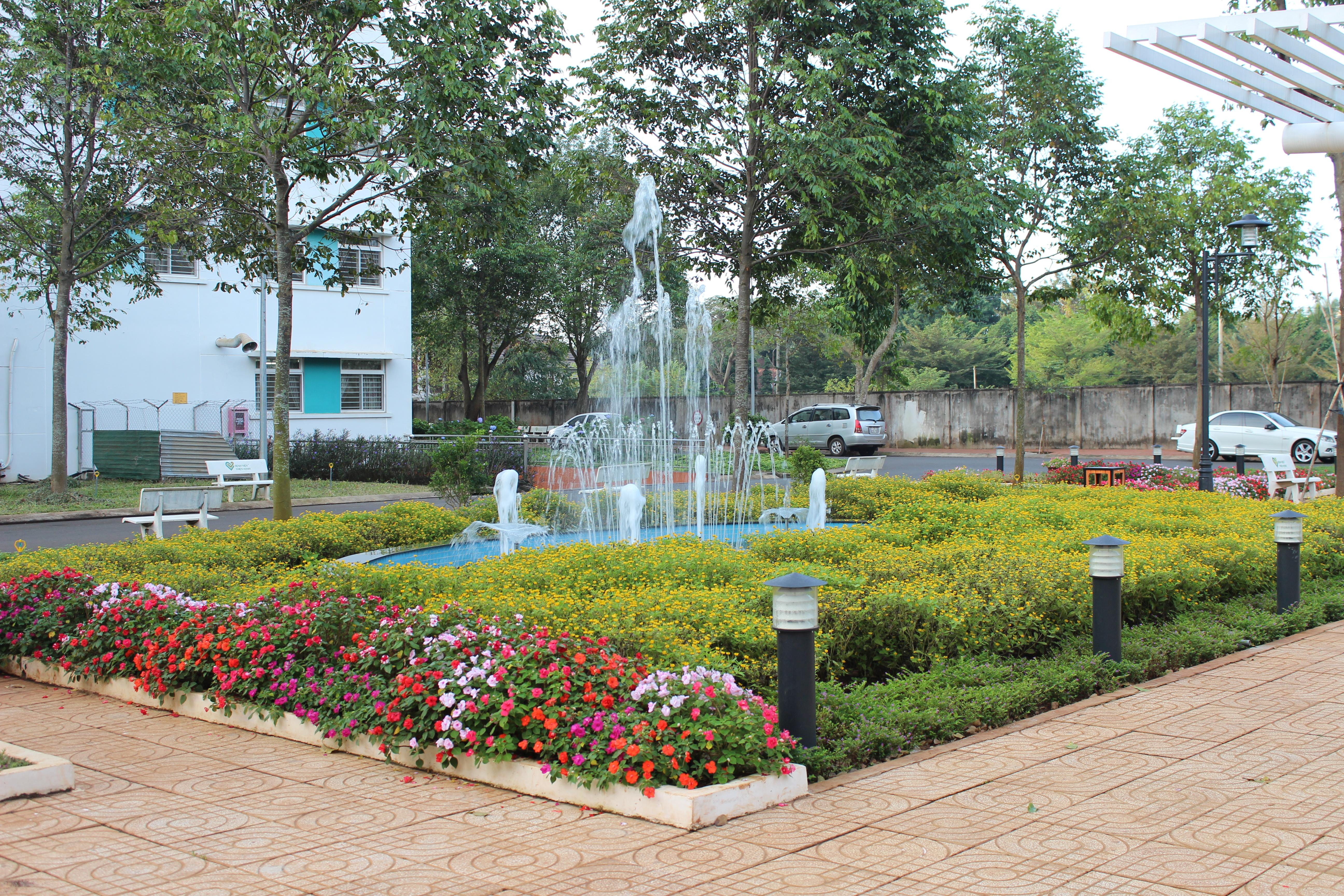 Vườn hoa cây xanh 1